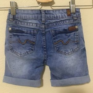 7 For All Mankind Denim Shorts Size 6